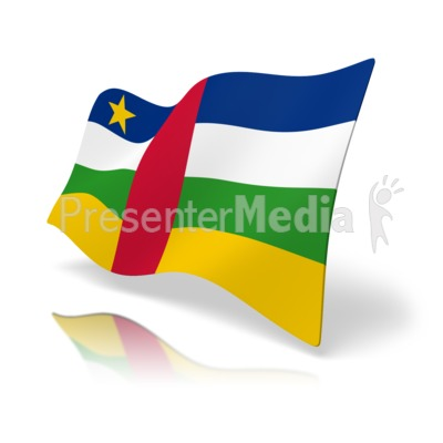 Flag Central African Republic Presentation clipart