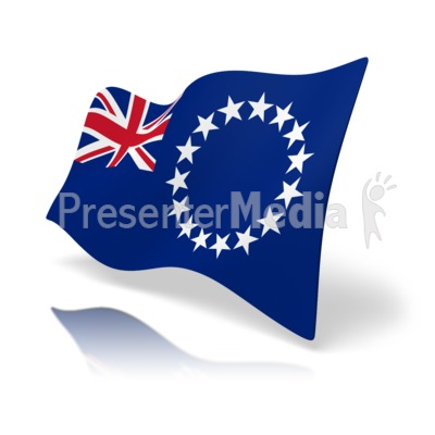Flag Cook Islands Presentation clipart