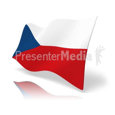 Flag Czech Republic Presentation clipart