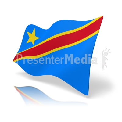 Flag Democratic Republic of Congo Presentation clipart