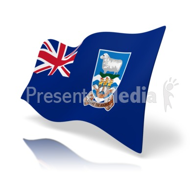 Flag Falkland Islands Presentation clipart