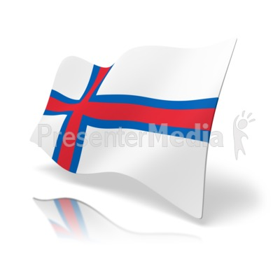 Flag Faroe Islands Presentation clipart