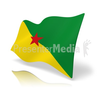 Flag French Guiana Presentation clipart