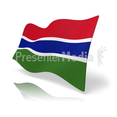 Flag Gambia Presentation clipart