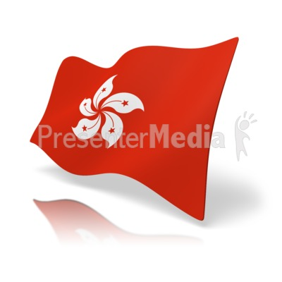 Flag Hong Kong Presentation clipart