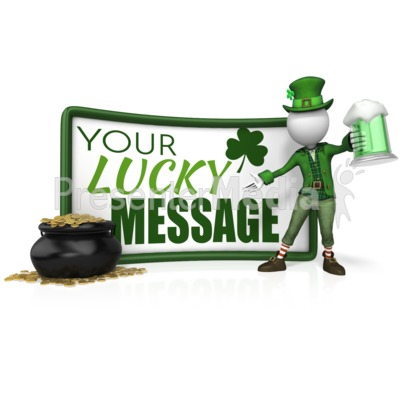 Leprechaun Sign Beer Pot Gold Presentation clipart