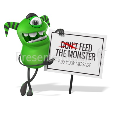 Monster Lean Sign Presentation clipart