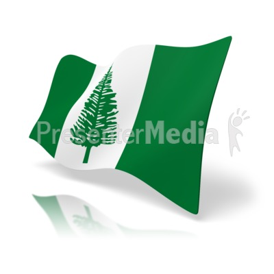Flag Norfolk Island Presentation clipart
