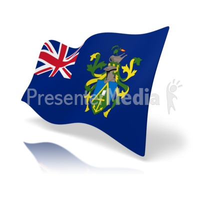Flag Pitcairn Islands Presentation clipart