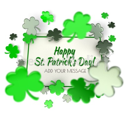 Shamrock Sign Presentation clipart