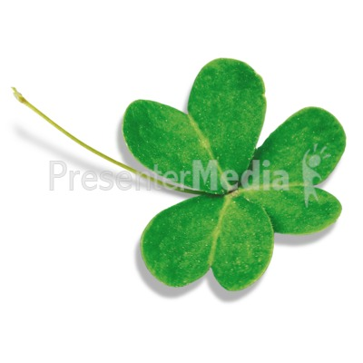 Single Three Leaf Clover Presentation clipart