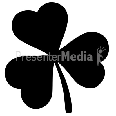 Shamrock silhouette. Signs and symbols great