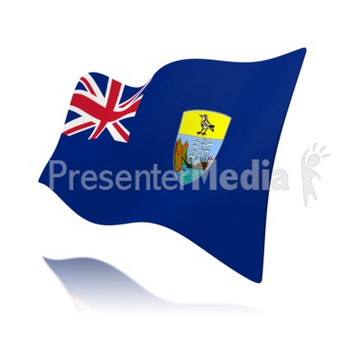 Flag Saint Helena Ascension And Tristan Presentation clipart