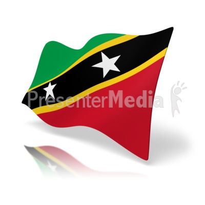 Flag Saint Kitts And Nevis Presentation clipart