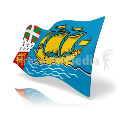 Flag Saint Pierre And Miquelon Presentation clipart