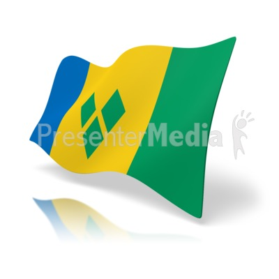 Flag Saint Vincent And The Grenadines Presentation clipart