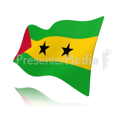 Flag Sao Tome And Principe Flag Presentation clipart