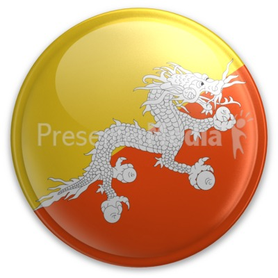 Badge of Bhutan Presentation clipart
