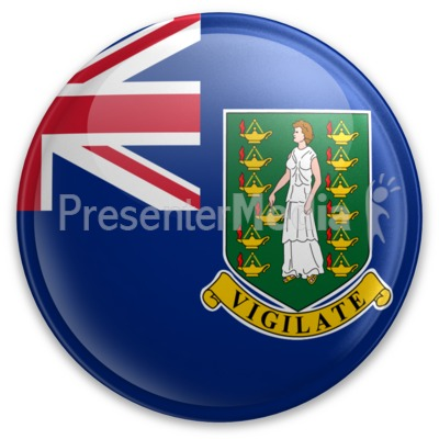 Badge of the British Virgin Islands Presentation clipart