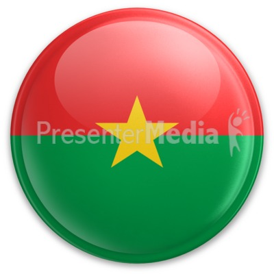 Badge of Burkina Faso Presentation clipart