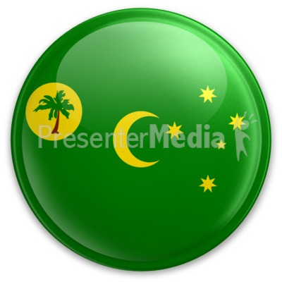 Badge of the Cocos Keeling Islands Presentation clipart