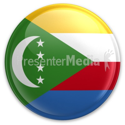 Badge of Comoros Presentation clipart