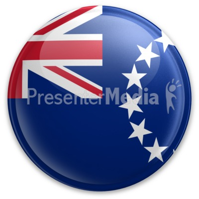 Badge of the Cook Islands Presentation clipart