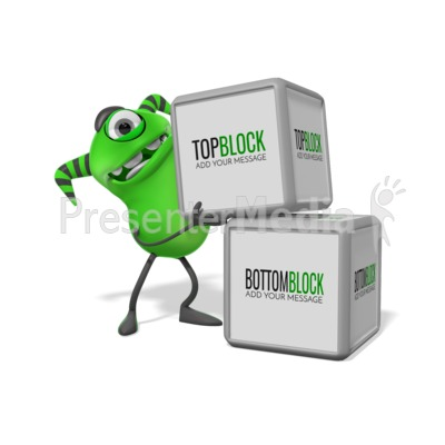 Monster Two Blocks Presentation clipart