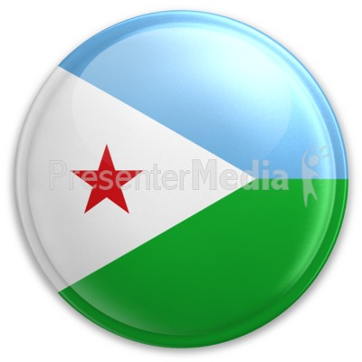 Badge of Djibouti Presentation clipart