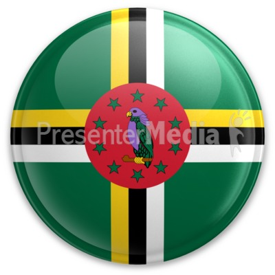 Badge of Dominica Presentation clipart