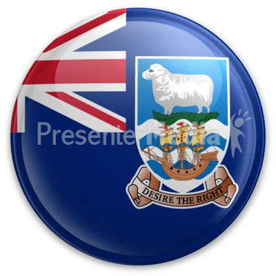 Badge of the Falkland Islands Presentation clipart