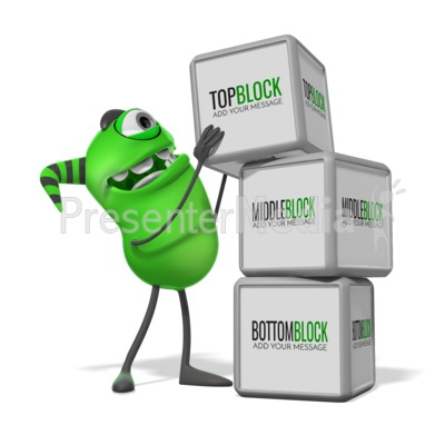 Monster Three Blocks Presentation clipart
