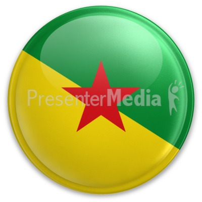 Badge of French Guiana Presentation clipart
