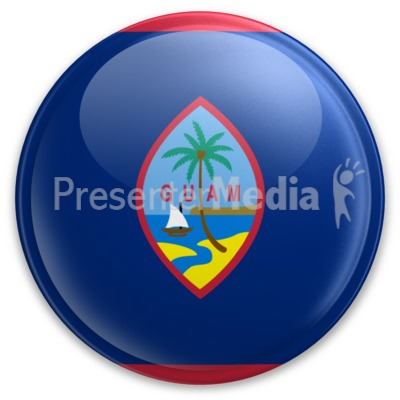 Badge of Guam Presentation clipart