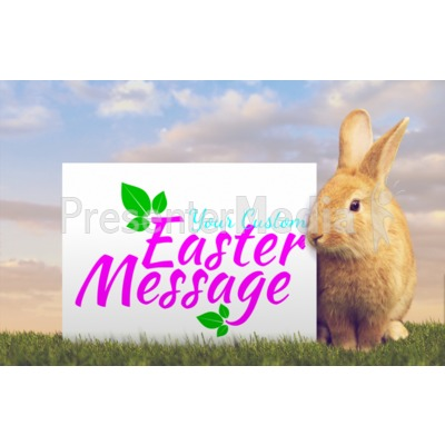 Orange Easter Bunny Custom Presentation clipart