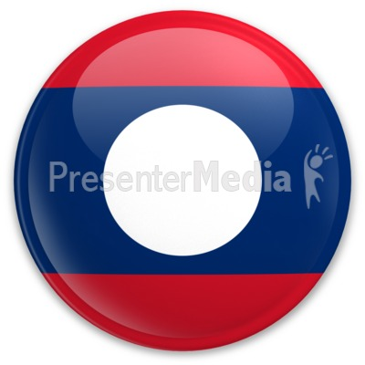 Badge of Laos Presentation clipart