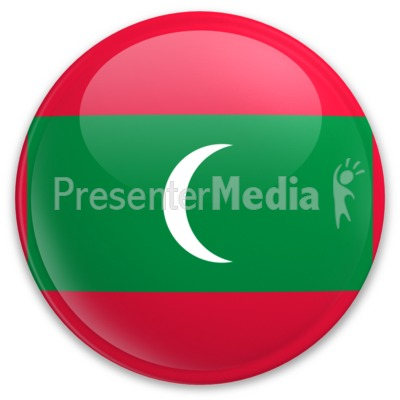 Badge of Maldives Presentation clipart