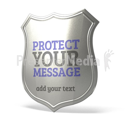 Police Badge Blank Presentation clipart