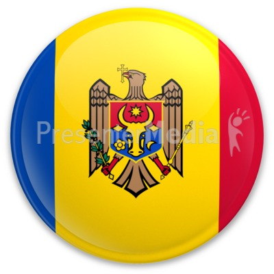 Badge of Moldova Presentation clipart