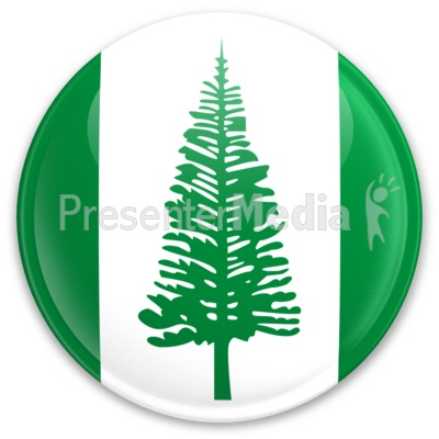 Flag Norfolk Island Button Presentation clipart