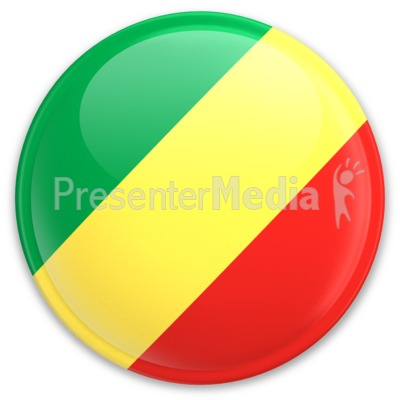 Flag Republic Of The Congo Button Presentation clipart