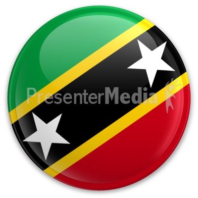 Flag Saint Kitts And Nevis Button Presentation clipart