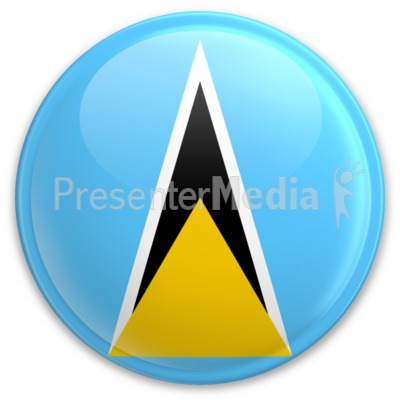 Flag Saint Lucia Button Presentation clipart