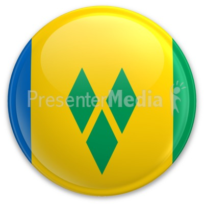 Flag Saint Vincent And The Grenadines Bu Presentation clipart