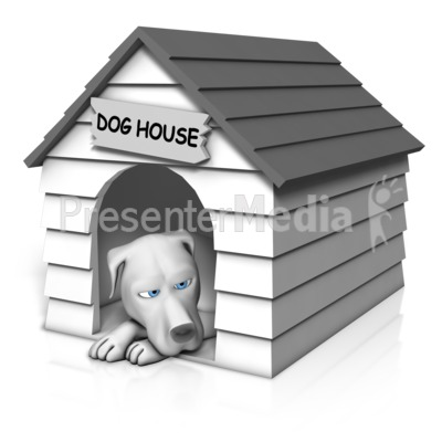 Dog Resting In House Presentation clipart