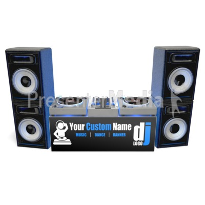 Dj Turntable Banner Custom Presentation clipart