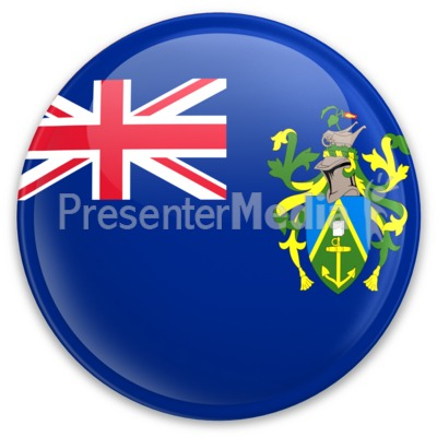 Flag Pitcarin Islands Button Presentation clipart