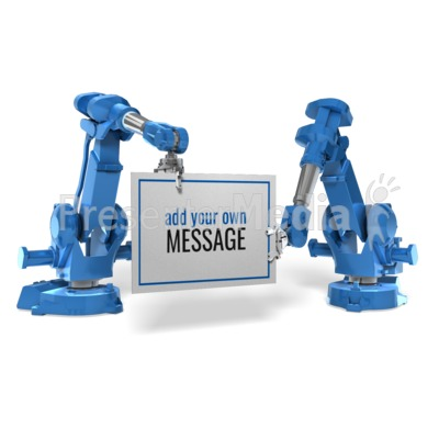 Robot Arm Sign Presentation clipart