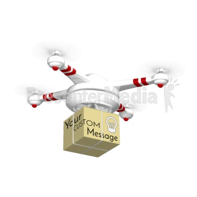 Drone Carrying Box Presentation clipart