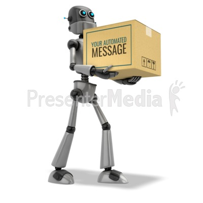 Robot Delivery Presentation clipart